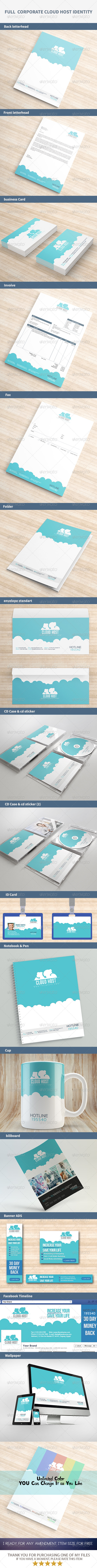 GraphicRiver Full Corporate Cloud Host Identity 7955469