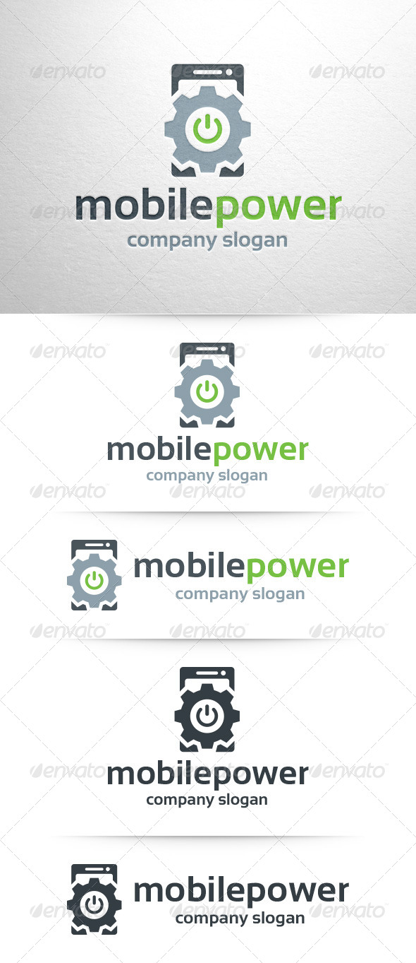GraphicRiver Mobile Power Logo Template 7955472