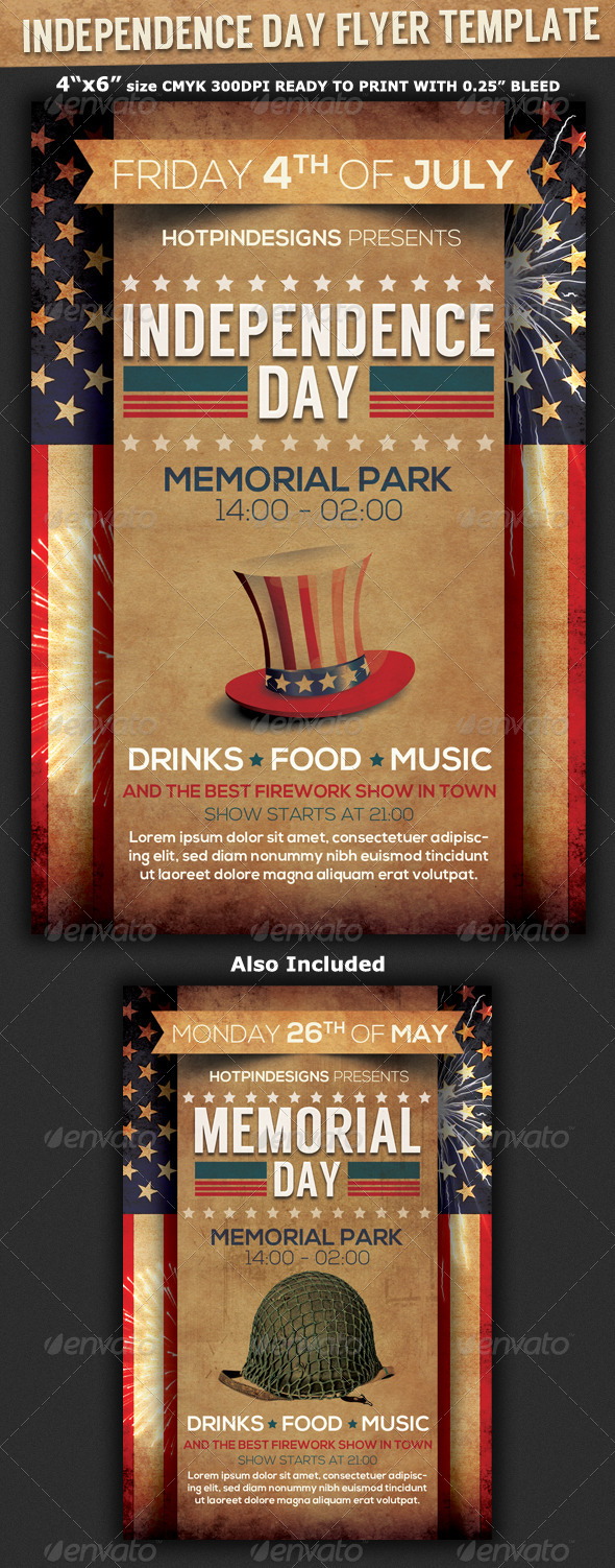 GraphicRiver 4th of July Independence Day Flyer 7955777