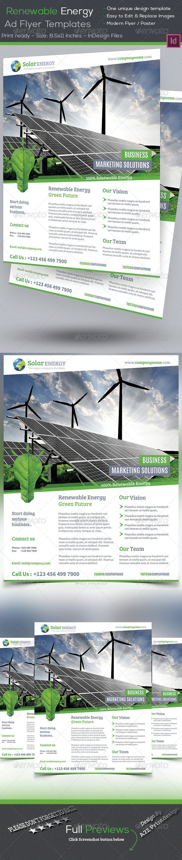 GraphicRiver Renewable Energy Flyer 7955833