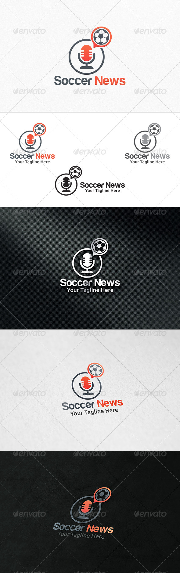 GraphicRiver Soccer News Logo Template 7956324