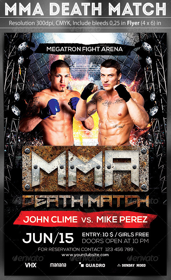 GraphicRiver MMA Death Match Flyer 7956684