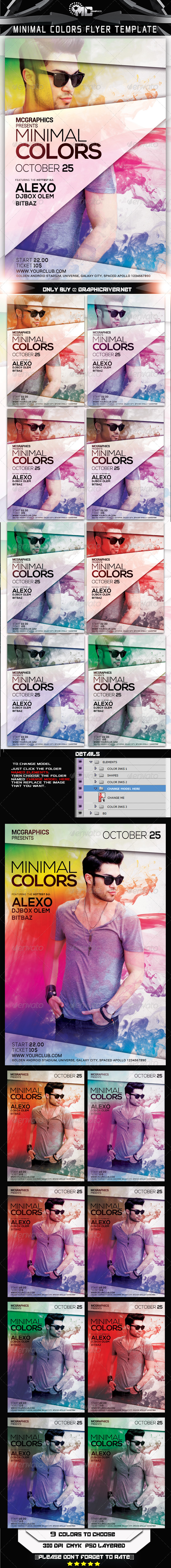 GraphicRiver Minimal Colors Flyer Template 7956686