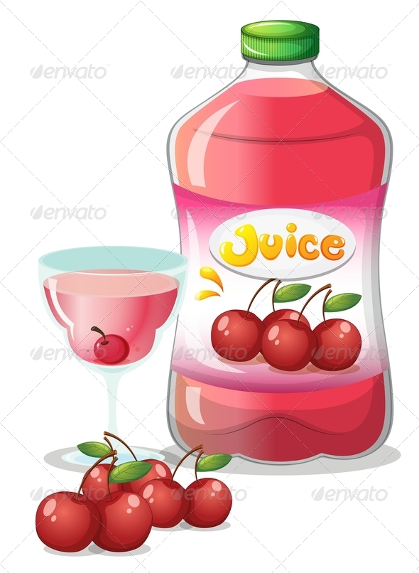 GraphicRiver Cherry Juice Drink 7956884