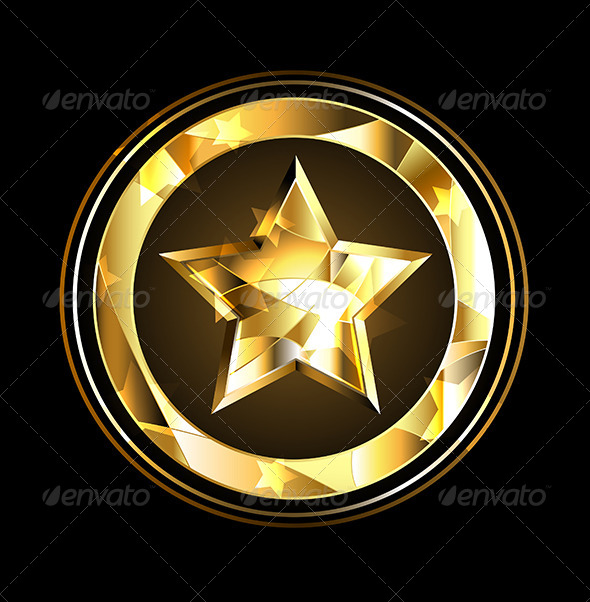 GraphicRiver Gold Star Foil 7957287