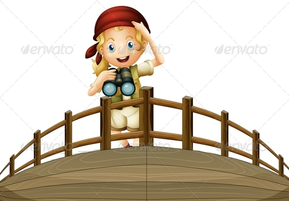 GraphicRiver Ship Crew Member with Binoculars 7957437