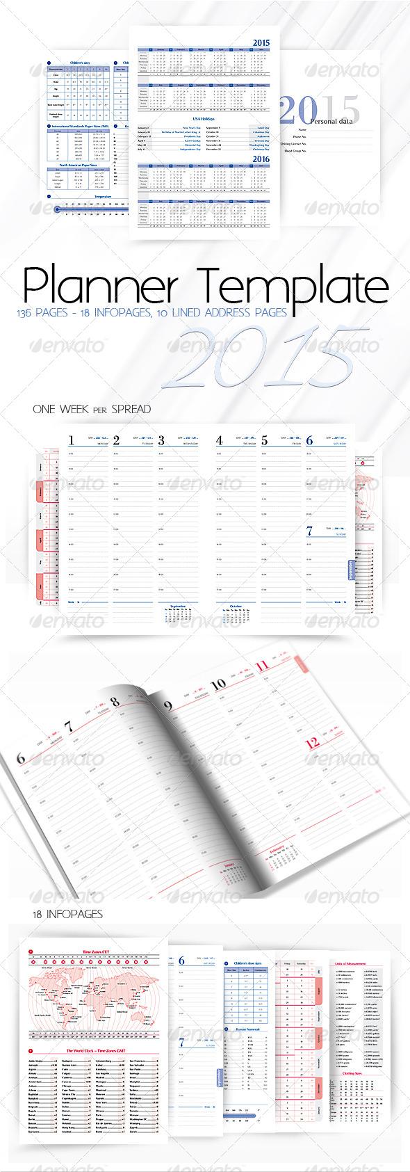 GraphicRiver Planner-Diary-Organizer 2015 v2 7958490