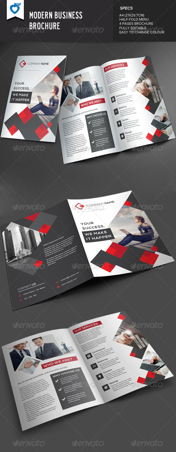 GraphicRiver Modern Business Brochure 7935075