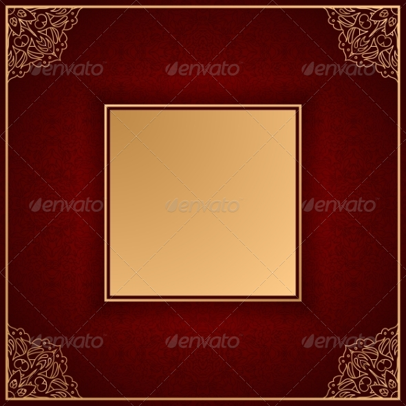 GraphicRiver Royal Luxury Red Invitation Card with Ornament 7959396