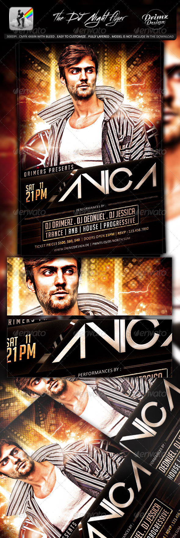 GraphicRiver The DJ Night Flyer 7959789
