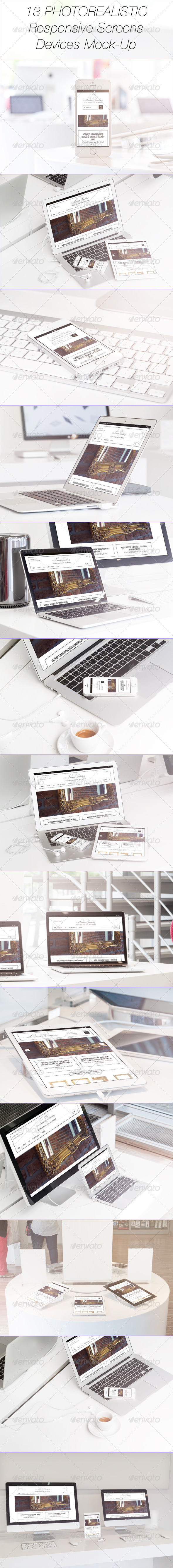 GraphicRiver 13 Photorealistic Responsive Devices Mock-Up 7959821