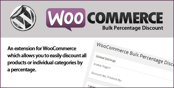 CodeCanyon WooCommerce Bulk Percentage Discount 7960493