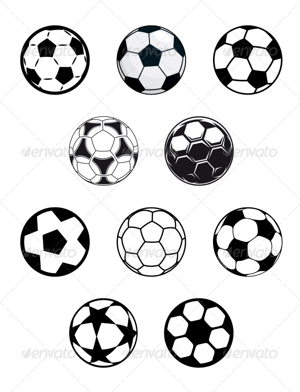 GraphicRiver Set of Soccer or Football Balls 7961733