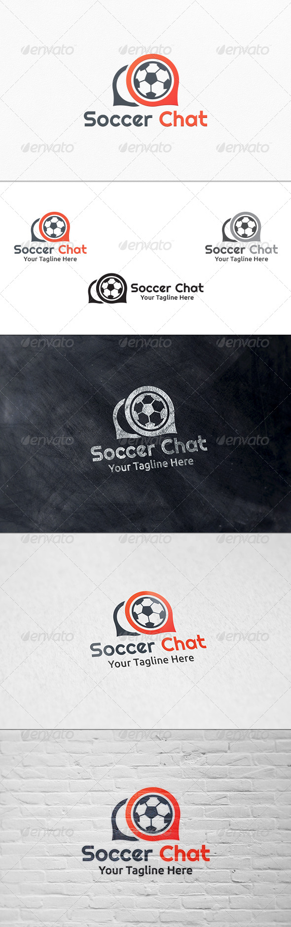 GraphicRiver Soccer Chat Logo Template 7964621