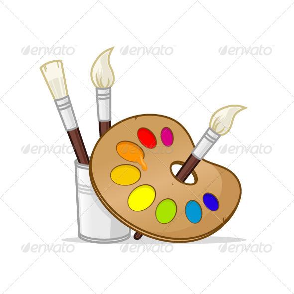 GraphicRiver Artist Palette 7964803