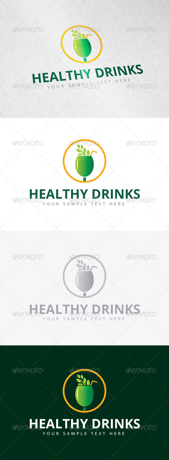 GraphicRiver Healthy Drinks Logo 7965807