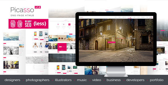 ThemeForest Picasso One Page HTML5 Template 7931270