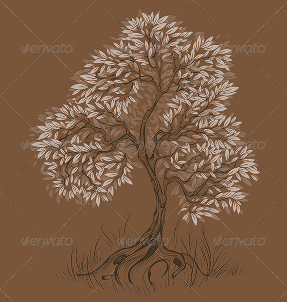 GraphicRiver Brown Tree 7968371