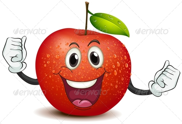 GraphicRiver Smiling Crunchy Apple 7969037