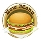 New Menu Label with a Big Burger - GraphicRiver Item for Sale
