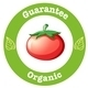 Pure Organic Label with a Red Tomato - GraphicRiver Item for Sale