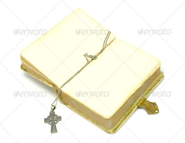 bible with cross - Stock Photo - Images