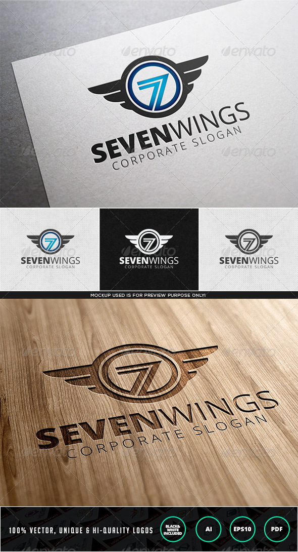 GraphicRiver Seven Wings Logo Template 7972708