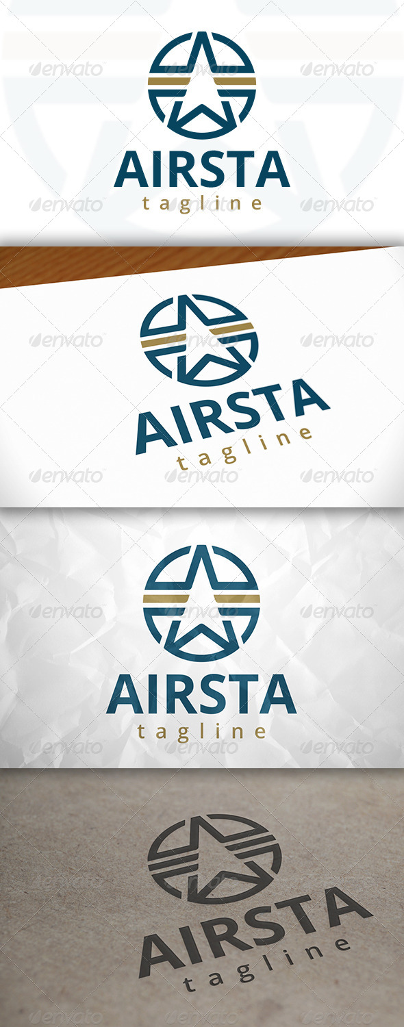 GraphicRiver Air Star Logo 7972777