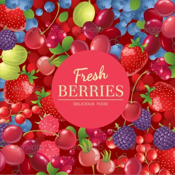 GraphicRiver Berries Background 7972933