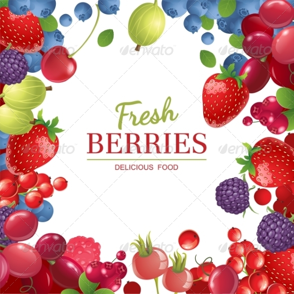 GraphicRiver Berries Background 7972946