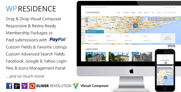 ThemeForest WP Residence Real Estate WordPress Theme 7896392