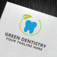 Green Dentistry Logo Template - GraphicRiver Item for Sale