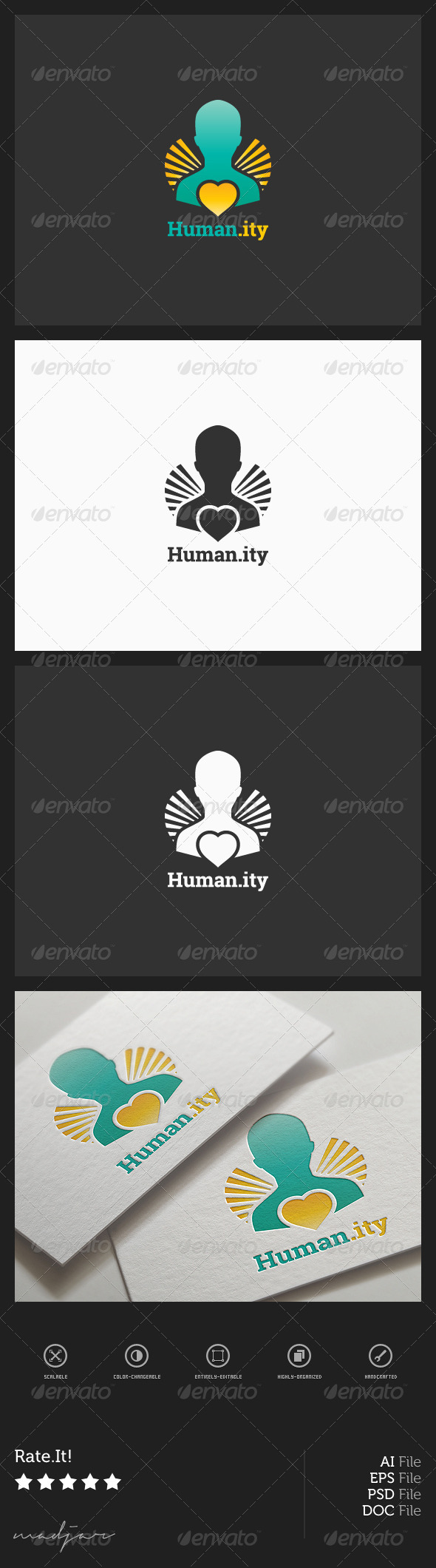GraphicRiver Charity Logo 7973902