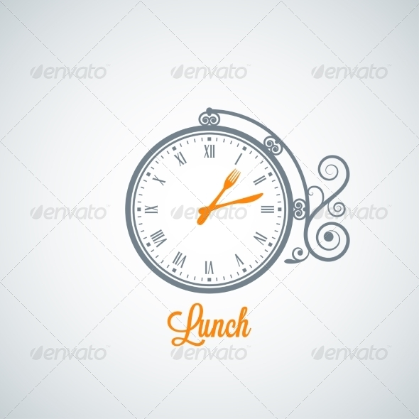 GraphicRiver Lunch Clock Background 7974155