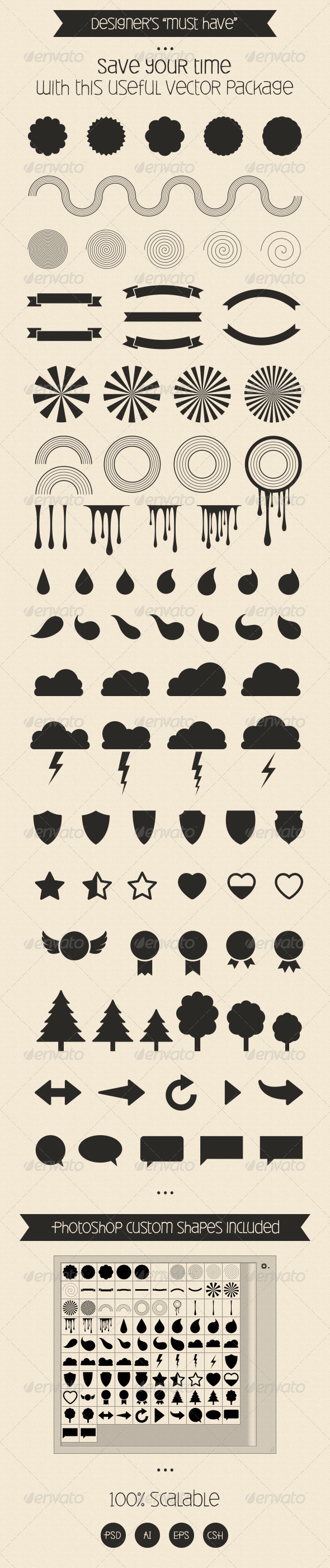 GraphicRiver Useful Vector Set Essentials 7974364