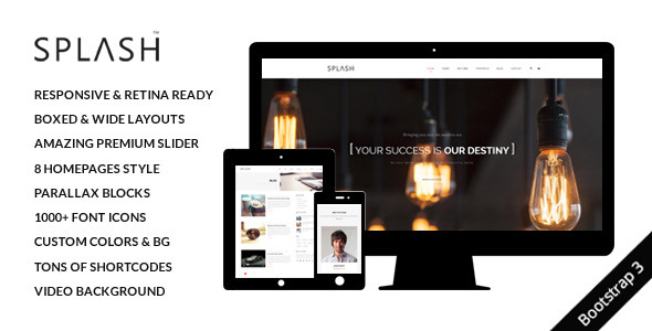 ThemeForest Splash Multi-Purpose Responsive Website Template 7964671