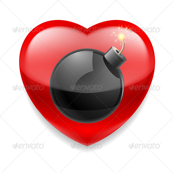 GraphicRiver Heart with Bomb 7974636
