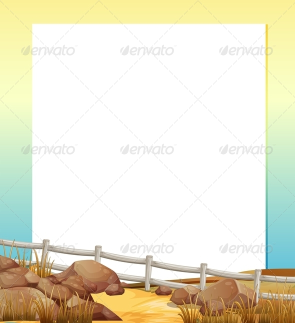 GraphicRiver Paper with Fence and Rocks 7974766