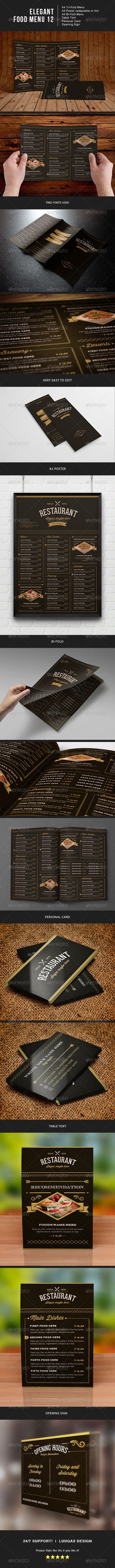 GraphicRiver Elegant Food Menu 12 7950264
