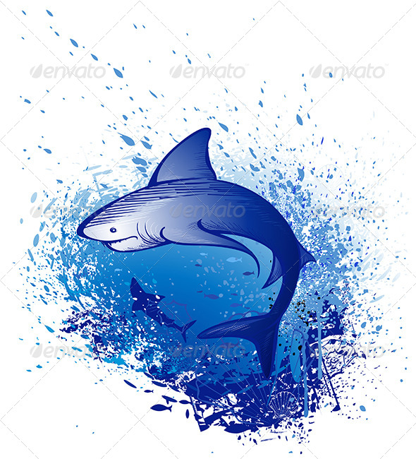 GraphicRiver Emerges White Shark 7975425