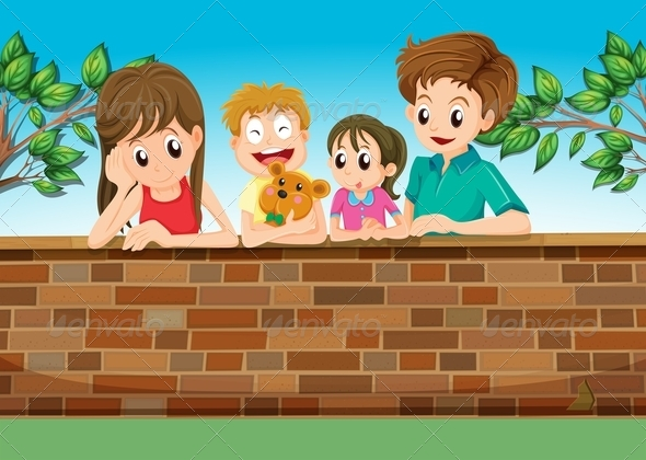 GraphicRiver Family in Backyard 7975783