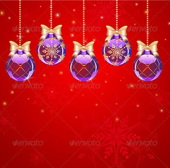 GraphicRiver Five Purple Balls 7977173