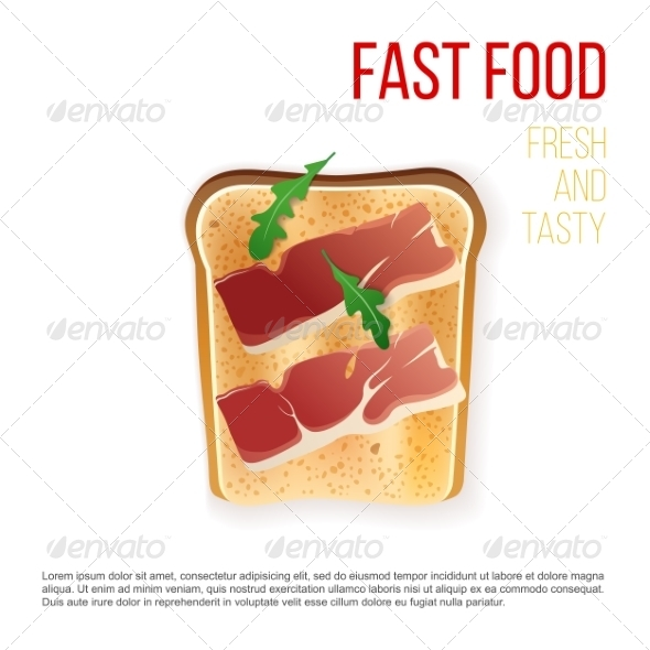 GraphicRiver Toast with Bacon 7978409