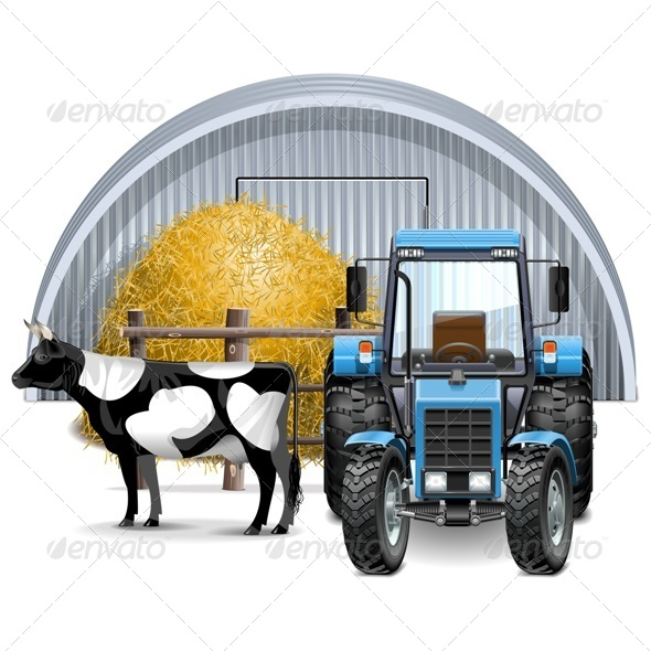 GraphicRiver Vector Farm Concept 7978870