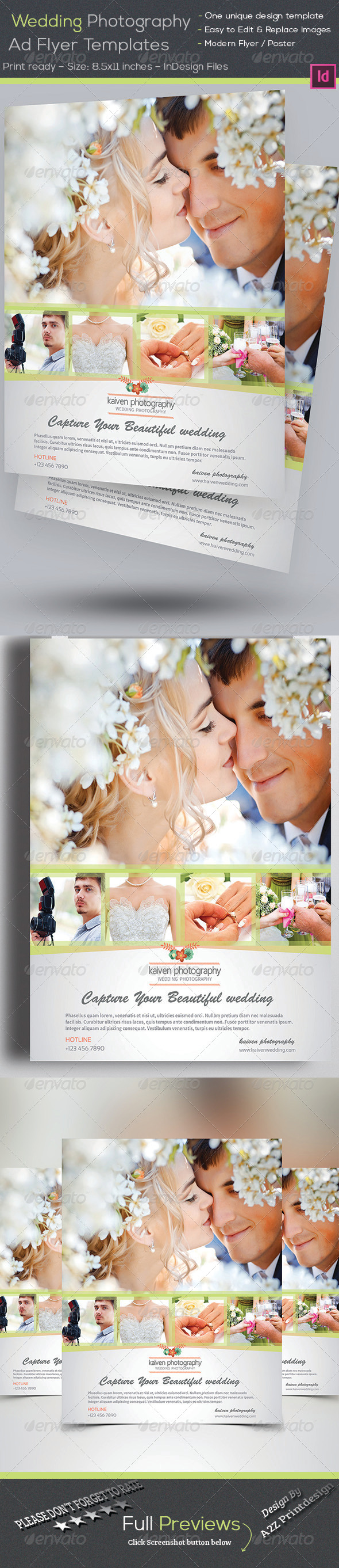 GraphicRiver Wedding Photography Flyer 7956348