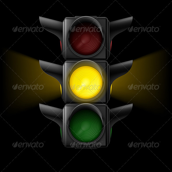 GraphicRiver Traffic Light with Yellow On 7981350
