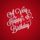 Birthday Vintage Lettering Background - GraphicRiver Item for Sale