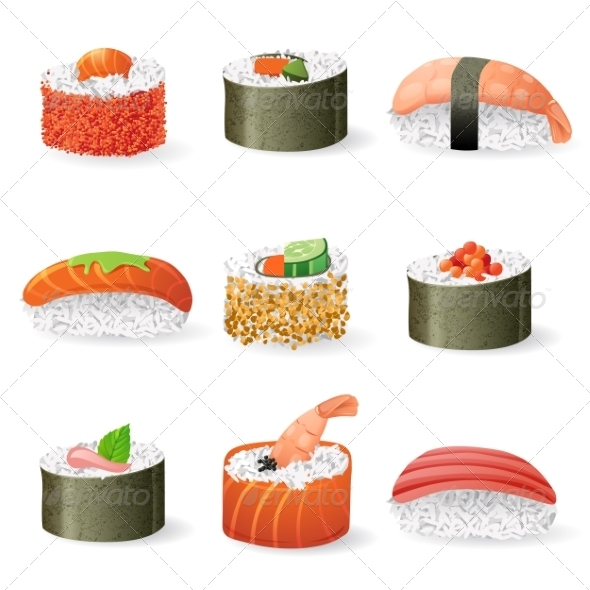 GraphicRiver Sushi Icons Set 7981810