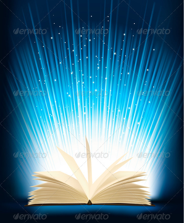 GraphicRiver Opened Magic Book With Magic Light 812980