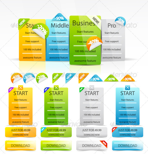 GraphicRiver Price Tables 812992